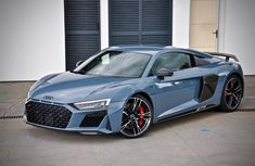 See the Frosted Glass Blue Audi R8 Coupe with its exclusive paint scheme!