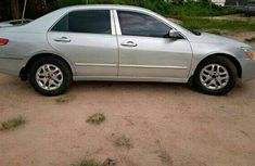 Neatly Used Silver Honda Accord 2002 Model for Sale