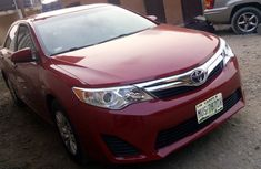 Nigeria Used Toyota Camry 2012 Model Red for Sale