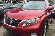 Used Lexus RX 350 Foreign 2010 Model Red