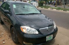 Nigerian Used Toyota Corolla 2003 Model Black Colour