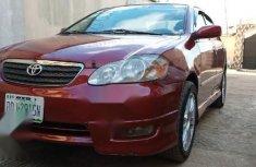 Nigerian Used Toyota Corolla 2004 1.8 TS Red