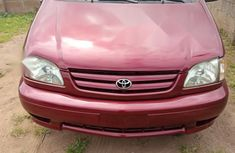 Foreign Used Toyota Sienna 2001 Red