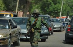 Nigerian soldier caught on video flogging drivers driving against traffic in Edo