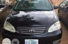 Nigeria Used Toyota Corolla 2002 Black