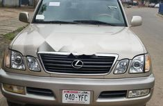 Foreign Used Lexus LX 2001 Model Gold