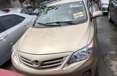 Foreign Used Toyota Corolla 2012 Model Gold Colour