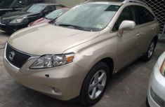 Foreign Used Lexus RX 2011 Model Gold