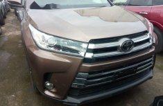 Foreign Used Toyota Highlander  2017 Model Brown