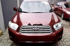 Nigeria Used Toyota Highlander 2010 Model Red