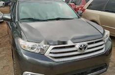 Foreign Used Toyota Highlander 2013 Model Grey