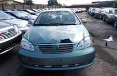 Foreign Used Toyota Corolla 2006 Model Green