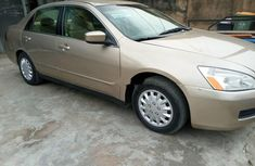 Tokunbo Honda Accord 2007 Model Gold