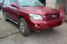 Nigeria Used Toyota Highlander 2003 Model Red
