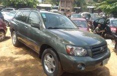 Nigeria Used Toyota Highlander 2007 Model Green