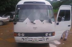 Nigeria Used Toyota Coaster 2007 Model White