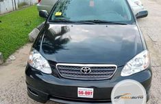 Foreign Used Toyota Corolla 2001 Model Black