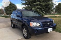 Nigeria Used Toyota Highlander 2006 Model Limited V6 Blue