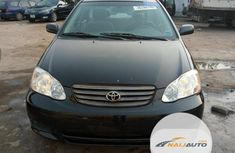 Foreign Used Toyota Corolla 2004 Model Black