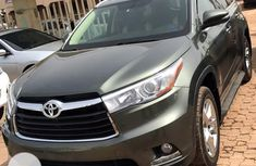 Foreign Used Toyota Highlander 2015 Model Gray