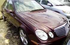 Mercedes Benz E350 Tokunbo 2008 Model Red