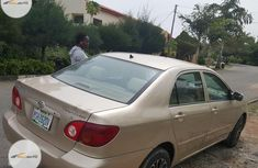 Nigeria Used Toyota Corolla 2005 Model Gold