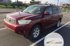 Toyota Highlander 2009 V6 Red