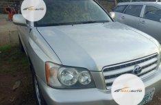 Nigerian Used Toyota Highlander 2002 Silver