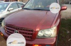 Nigerian Used Toyota Highlander 2003 Red
