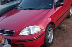 Nigerian Used Honda Civic 1998 Hatchback Red