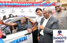 ₦350m cars won by customers in extended Dangote Cement Promo