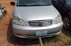 Nigeria Used Toyota Corolla 2004 Model Silver for Sale