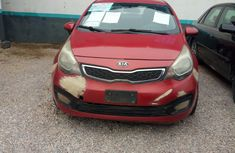 Nigeria Used KIA Rio 2012 Model Red for Sale