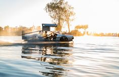 Gullwing DeLorean-inspired hovercraft for sale to highest bidder