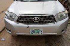 Toyota Highlander SUV Nigeria Used 2008 Model Silver