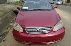 Used Toyota Corolla Nigeria 2007 Model Red