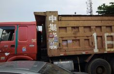Foreign Used Howo Tipper Truck 2005 Model Red
