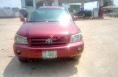 Nigeria Used Toyota Highlander 2007 Model Red