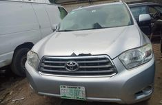 Nigeria Used Toyota Highlander 2009 Model Silver