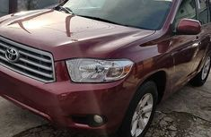 Toyota Highlander SUV Foreign Used 2010 Model Red