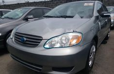 Foreign Used Toyota Corolla 2004 Model Silver