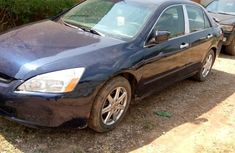 Nigerian Used Honda Accord Blue Sedan 2004 Model