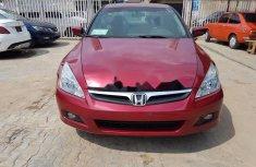 Nigeria Used Honda Accord 2006 Model Red