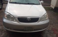 Used Toyota Corolla Nigeria 2005 Model Silver for Sale