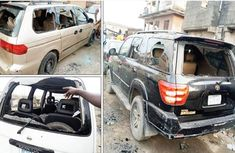 200 vehicles in Surulere were smashed at midnight by hoodlums in masks