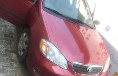 Foreign Used Toyota Corolla 2006 Model Red Colour