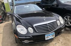 Used Mercedes Benz E350 2008 Model Black Tokunbo