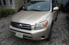 Nigeria Used Toyota RAV4 2006 Model Gold