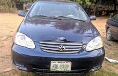 Nigeria Used Toyota Corolla 2005 Model Blue