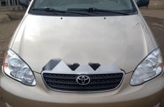 Foreign Used Toyota Corolla 2006 Model Gold